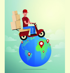 world wide delivery of vector image