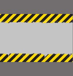 Yellow and black grunge hazard sign vector