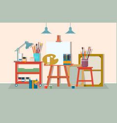 art drawing design studio furniture creative vector image