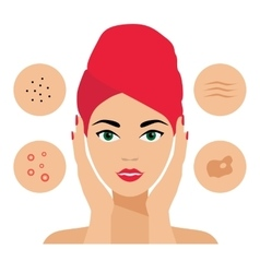 Facial Care Skin Defects Problems Acne vector image