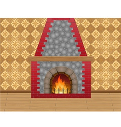 fireplace 02 vector image