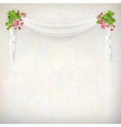 Floral Vintage Wedding Background vector image