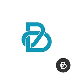 Letter B line puzzle style logo vector image vector image