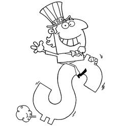 Uncle sam cartoon vector image vector image