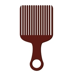 afro hair comb icon vector image