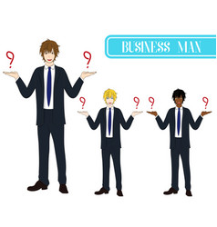 business man selection with happy face vector image vector image
