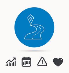 destination pointer icon road location sign vector image