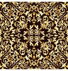 Golden baroque pattern vector image