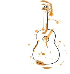 Abstract guitar vector image vector image