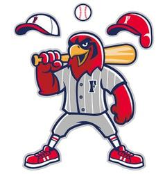 baseball falcon mascot vector image vector image