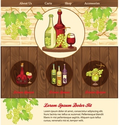 Beverage background for web template vector image