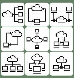 Cloud Storage Icons Set vector image