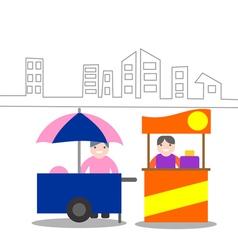 Food kiosk vector image