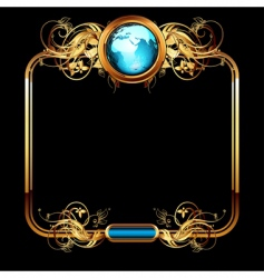 world with ornate vector image vector image