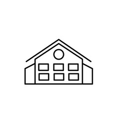 big house icon vector image