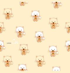 cute cartoon kitten vector image vector image