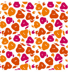 cute simple flat peir fruit seamless pattern for vector image vector image