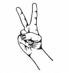 hand peace vector image vector image