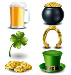 St Patricks day symbol set vector image vector image