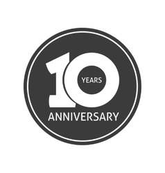 Years 10 anniversary sticker 10th year vector