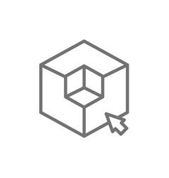 3d modeling 3 dimensional model cube geometric vector