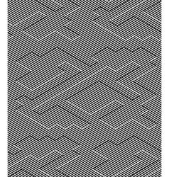 Abstract Black and White Striped Seamless Pattern vector image