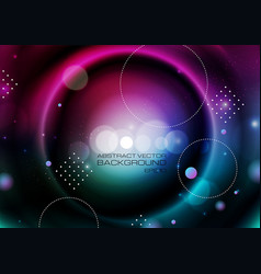Abstract circles on blurred colors background vector