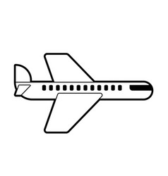 airliner icon sign aircraft symbol vector image