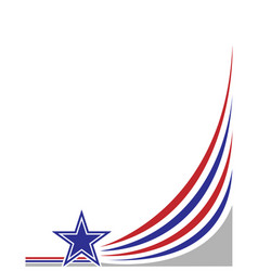 American abstract flag corner banner vector
