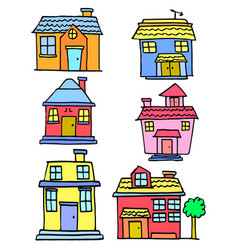 Art of house colorful style vector