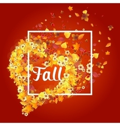 Autumn Frame in Shape of Heart vector image