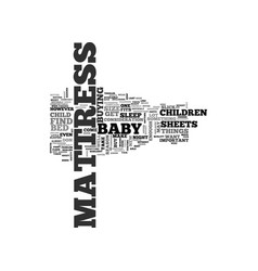 Baby mattress text word cloud concept vector