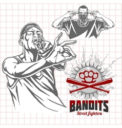 Bandits and hooligans - criminal nightlife vector image