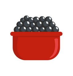 black caviar icon flat style vector image