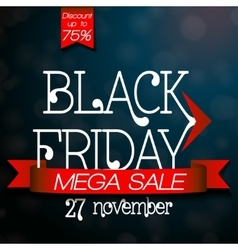Black Friday mega sale design template vector image