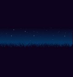 blue dark night sky with lot of shiny stars vector image
