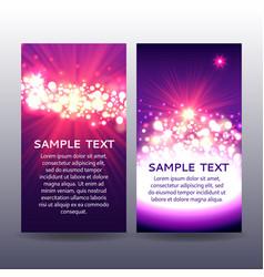 bokeh flyer violet templates vector image vector image