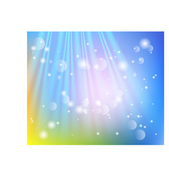 bright shining sun with lens flare soft vector image