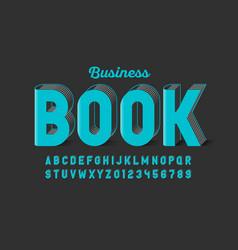 Business book style font design alphabet letters vector