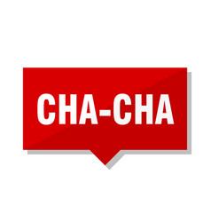 Cha-cha red tag vector