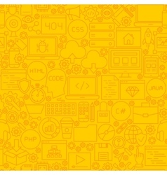 Coding Yellow Line Tile Pattern vector image