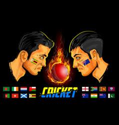 Cricket players cricket championship vector