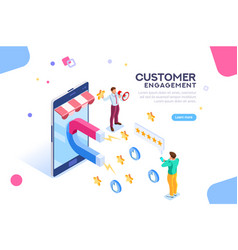 customer engagement for like or star vector image