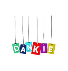 dankie greeting card vector image