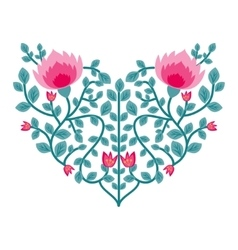 Decorative floral heart vector image