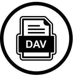 Dev file document icon vector