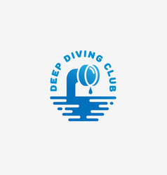 Diving club logo vector