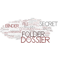 Dossier word cloud concept vector