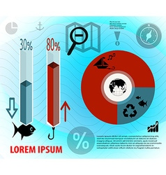 Eco infographic vector image