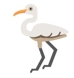 Egret flat vector